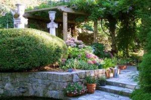 Jardin florentin pergola