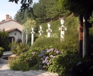Les 7 colonnes du jardin florentin