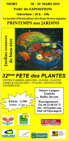 Printemps aux jardins 28 et 29 mars à Niort