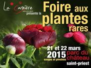 Foire aux plantes de St Priest 21 et 22 mars